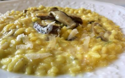 Porcini and Saffron Risotto