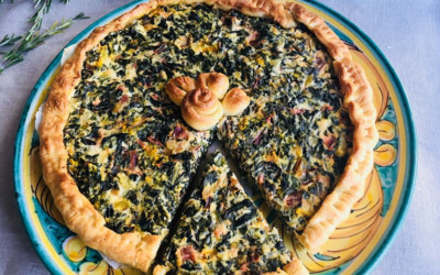 Swiss Rainbow Chard and Bacon Quiche