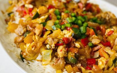 Stir Fired Basmati rice with Chicken and Veggies