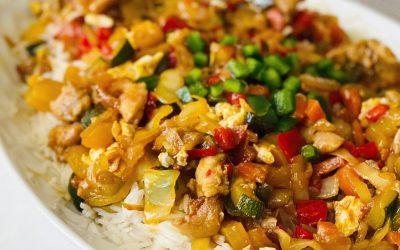 Stir Fired Basmati rice with Chicken and Veggies