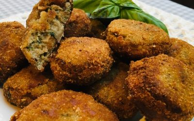 Aubergine and Mint Croquettes