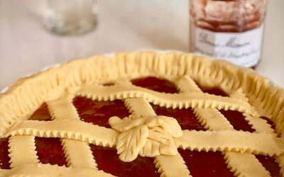Strawberry jam Pie