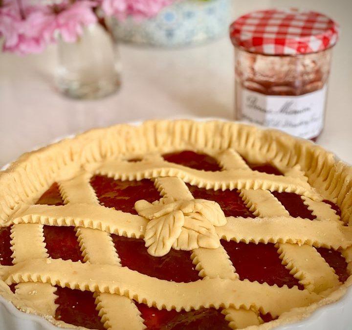 Strawberry jam Pie
