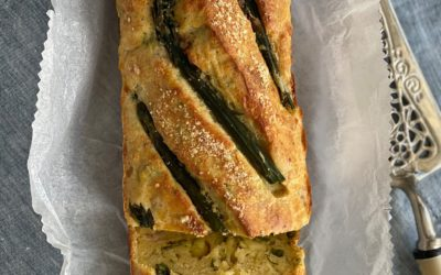 Rosted Asparagus, Pancetta and Gruyere Loaf