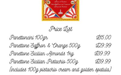 D&G Fiasconaro Price list