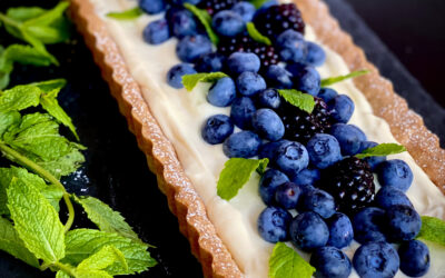 Blueberry & Mascarpone Tart